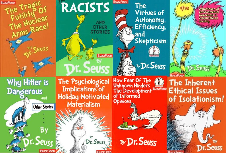 Racists, Hitler and Other Warped Dr. Seuss Works